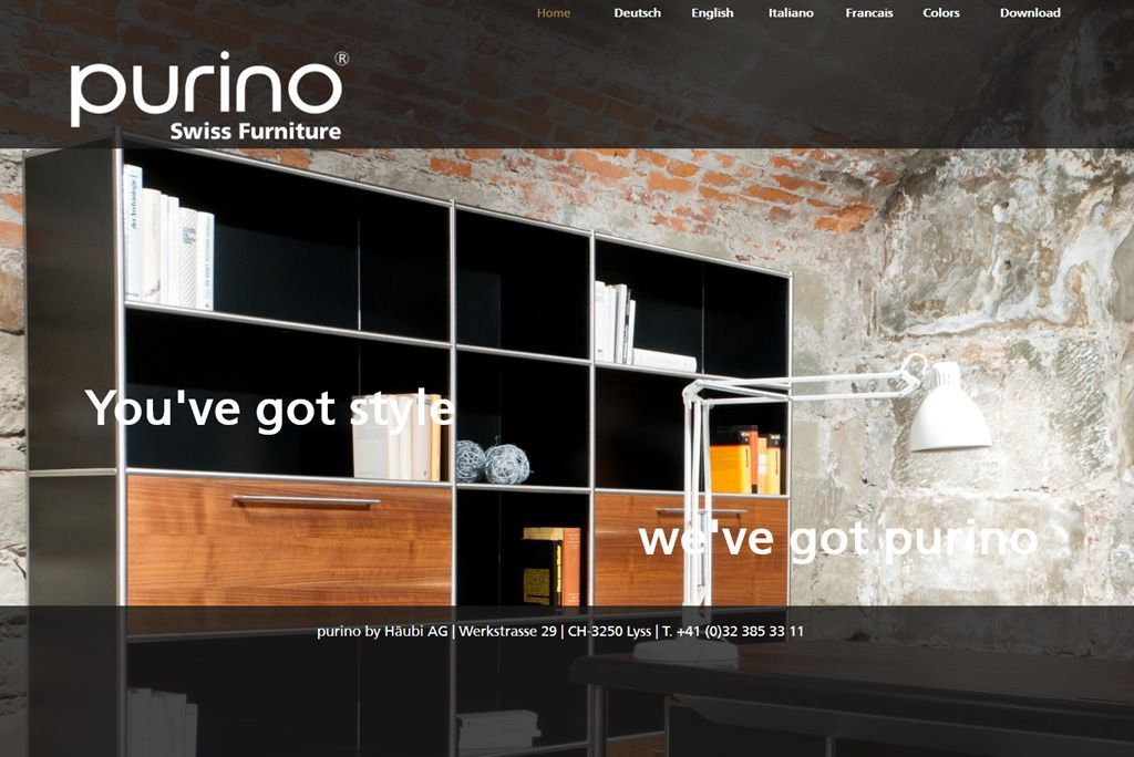 Purino Website Online